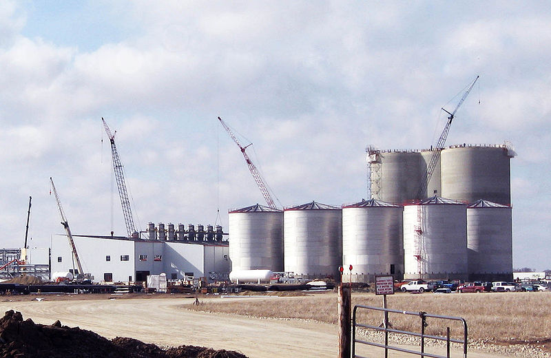 An ethanol plant under construction in Iowa.