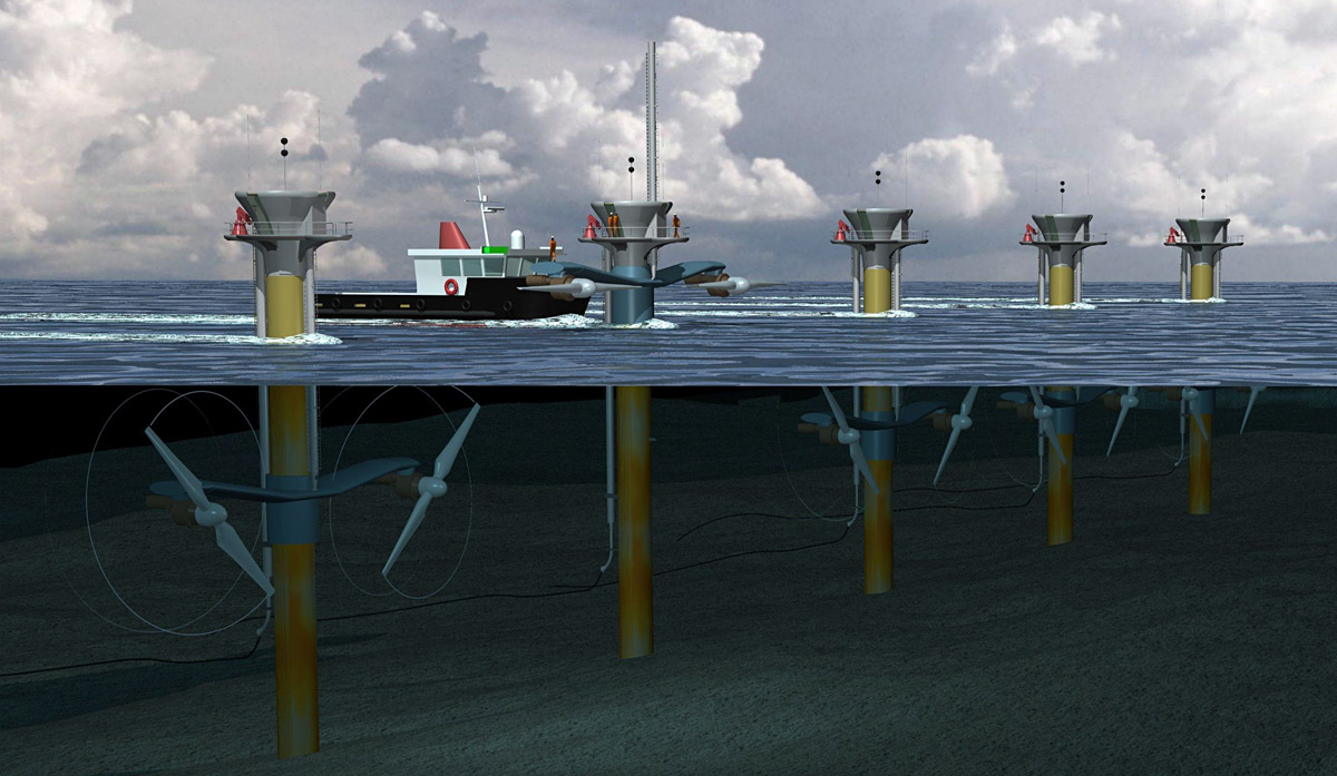 Tidal Power Energy British Columbia Electricity From Sea Water Curcuit Diagram Set Up Image